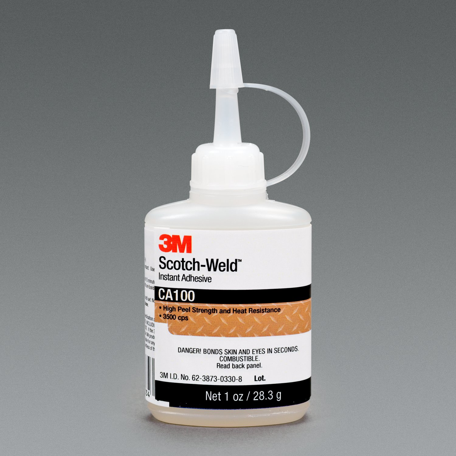3M CA-100 ADHESIVE, CYANOACRYLATE, BOTTLE, 1FL.OZ.(US)