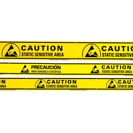 "Aisle warning tape, ESD sensitive 2""x36 yards (1 roll) 2lbs"