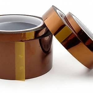 """1 mil Kapton Polyimide Adhesive Tape, 3"""" Core, 36 yd Length, 1/4"""" Width"""